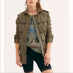 Free People Not your brother's Olive Jacket M